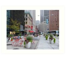 NYC Street Alfresco Art Print