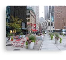 NYC Street Alfresco Metal Print