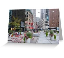 NYC Street Alfresco Greeting Card