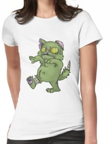 ZOMBIE CAT Womens Fitted T-Shirt