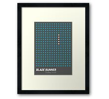 Dot Matrix - BLADE RUNNER - Poster Framed Print