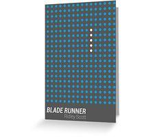 Dot Matrix - BLADE RUNNER - Poster Greeting Card