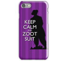 Keep Calm and Zoot Suit (El Pachuco/Purple) iPhone Case/Skin