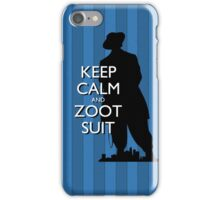 Keep Calm and Zoot Suit (El Pachuco/Blue) iPhone Case/Skin