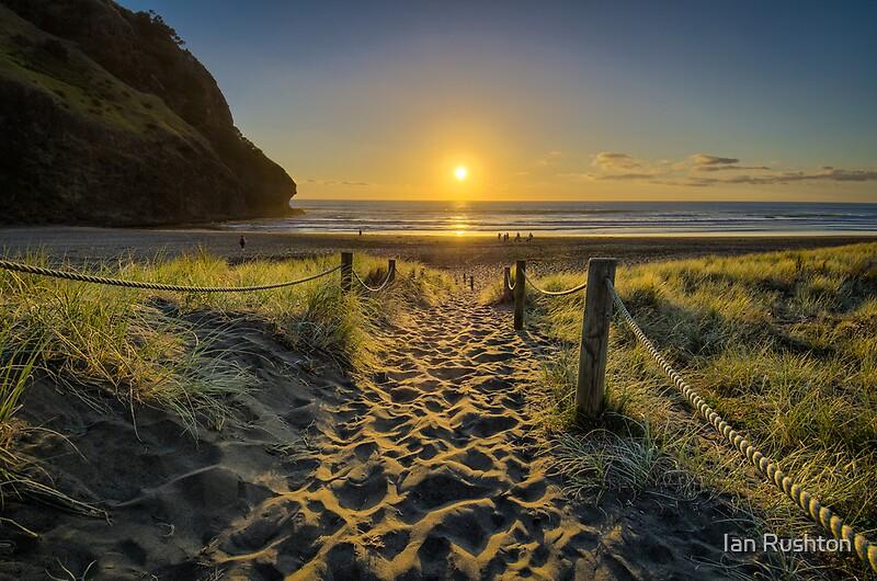 """Piha Sunset"" by Ian Rushton"