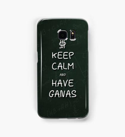 Keep Calm and Have Ganas - Green Chalkboard Samsung Galaxy Case/Skin