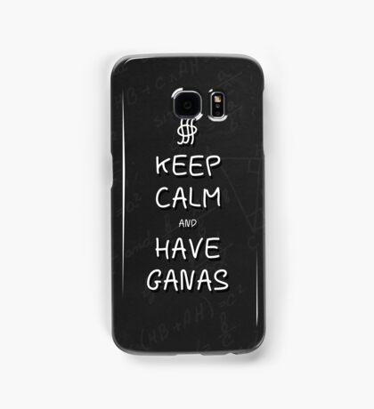 Keep Calm and Have Ganas - Chalkboard Samsung Galaxy Case/Skin