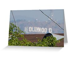 Hollywood through the Trees Greeting Card