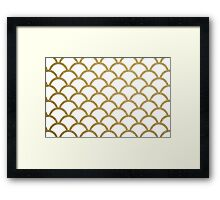 glittery scales Framed Print
