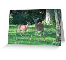 Mommy Deerest and Deerest Baby Greeting Card