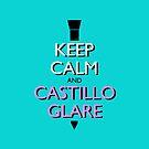 Keep Calm and Castillo Stare (Miami Vice - Aqua) by olmosperfect