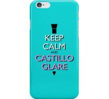 Keep Calm and Castillo Stare (Miami Vice - Aqua) iPhone Case/Skin