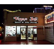 Vegas Ink Photographic Print