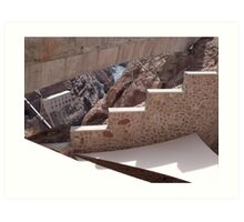 Hoover Dam Stairs Art Print