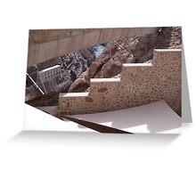 Hoover Dam Stairs Greeting Card
