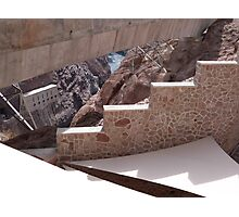 Hoover Dam Stairs Photographic Print