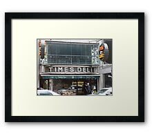 Times Deli NYC Framed Print