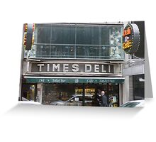 Times Deli NYC Greeting Card