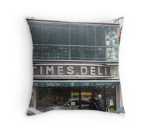 Times Deli NYC Throw Pillow