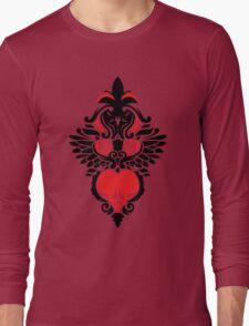 Rose, Skull and Wings Demask Long Sleeve T-Shirt