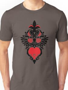 Rose, Skull and Wings Demask Unisex T-Shirt