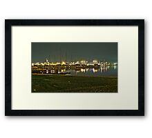 Night views of the city Framed Print
