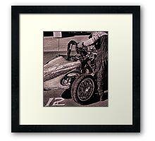 The driver's briefing Framed Print