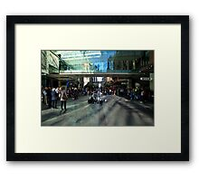 Pitt Street Mall, Sydney, With Crowd And Busker Framed Print