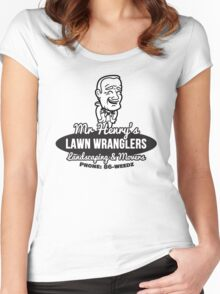 Mr Henry's Lawn Wranglers Women's Fitted Scoop T-Shirt