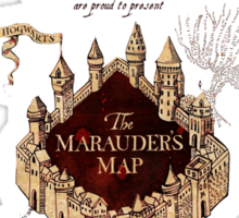 Marauders Map Harry Potter Sticker