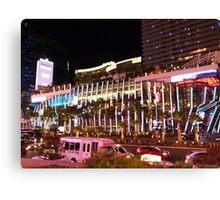 Vegas Strip Nightlife Canvas Print