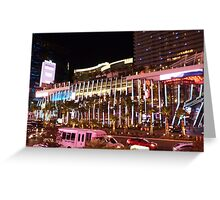 Vegas Strip Nightlife Greeting Card