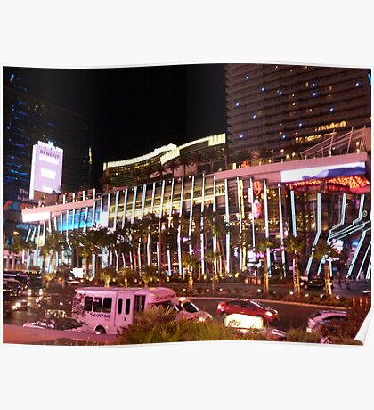 Vegas Strip Nightlife Poster