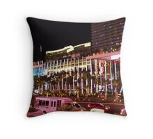 Vegas Strip Nightlife Throw Pillow