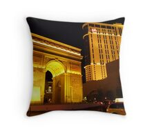 Paris Paris Las Vegas Throw Pillow