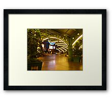 Green in the Gold Framed Print