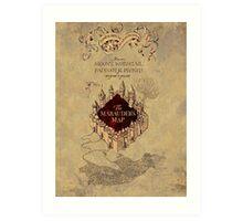 Marauders Map Harry Potter Art Print