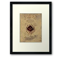 Marauders Map Harry Potter Framed Print