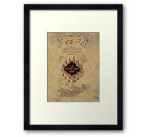 Marauders Map Harry Potter Framed Print