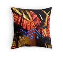 Flamingo Lights Throw Pillow