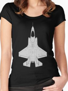 Lockheed F-35B Lightning II (Light) Women's Fitted Scoop T-Shirt