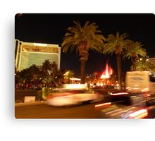 Vegas, The Strip, at Night Canvas Print