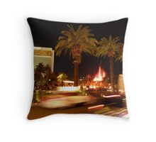 Vegas, The Strip, at Night Throw Pillow