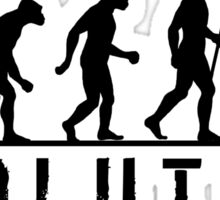 Funny Evolution of Hiking Sticker