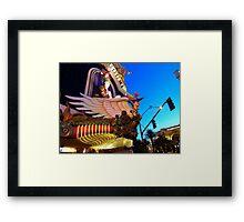 Harrahs Vegas Framed Print