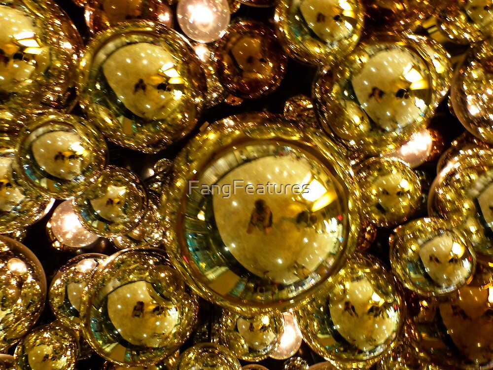 Gold Bubbles by FangFeatures
