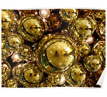 Gold Bubbles Poster