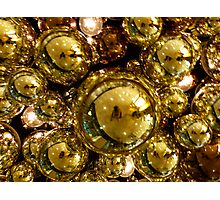 Gold Bubbles Photographic Print