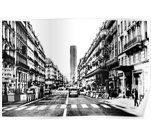Paris Tour Montparnasse Vintage Poster