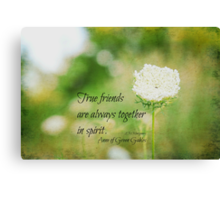 True Friends Anne of Green Gables Canvas Print